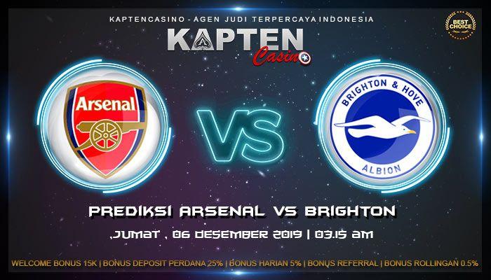 Prediksi Arsenal vs Brighton 6 Desember 2019 | Brighton