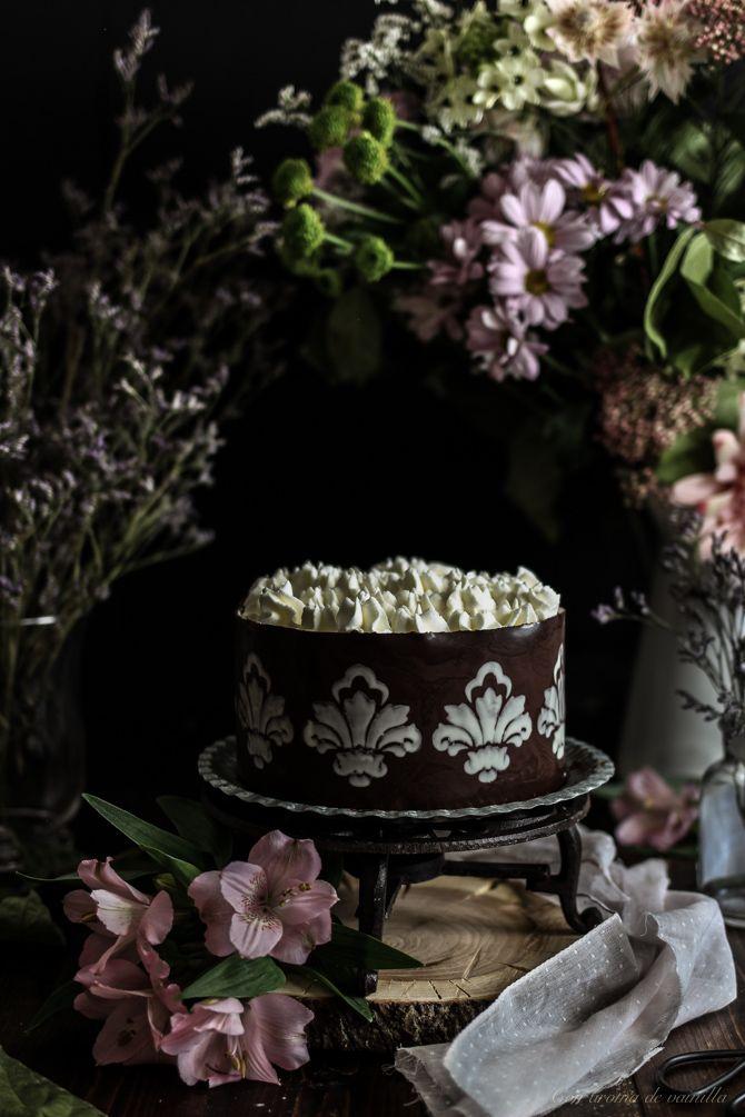 Brownie cheesecake de crema de orujo