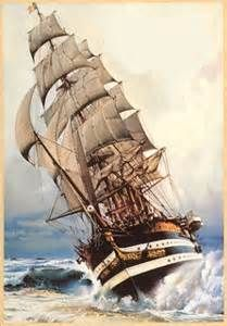Navire en pleine tempete ... | Vaisseaux Fantomes pirates ...