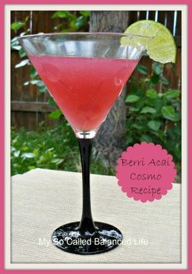 How to make a cosmo with Absolut Berri Acai vodka.