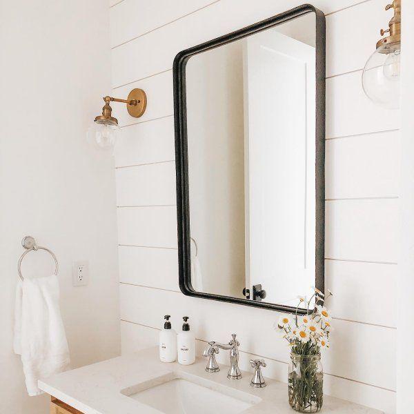 Halstad Framed Bathroom Mirror In 2020 Framed Bathroom Mirror Bathroom Mirror Bathroom Layout