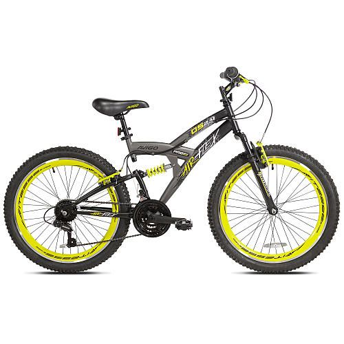 Boys 24 inch Avigo Air Flex Dual Suspension Bike