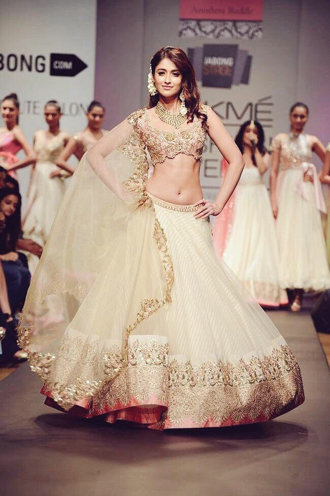 Lehenga by Anushree Reddy. It's so incredibly beautiful, that's it, this is my reception outfit. HAHA!