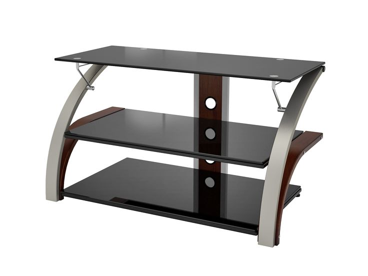Z-line TV stand comes with some variations. The first variation is regular table without additional straight panel to mount TV.