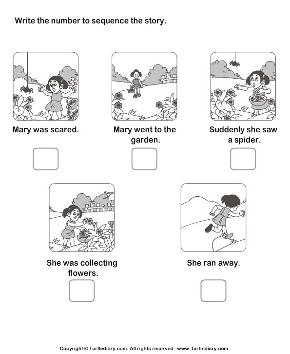 Picture Sequence Worksheets- make into cards to put in