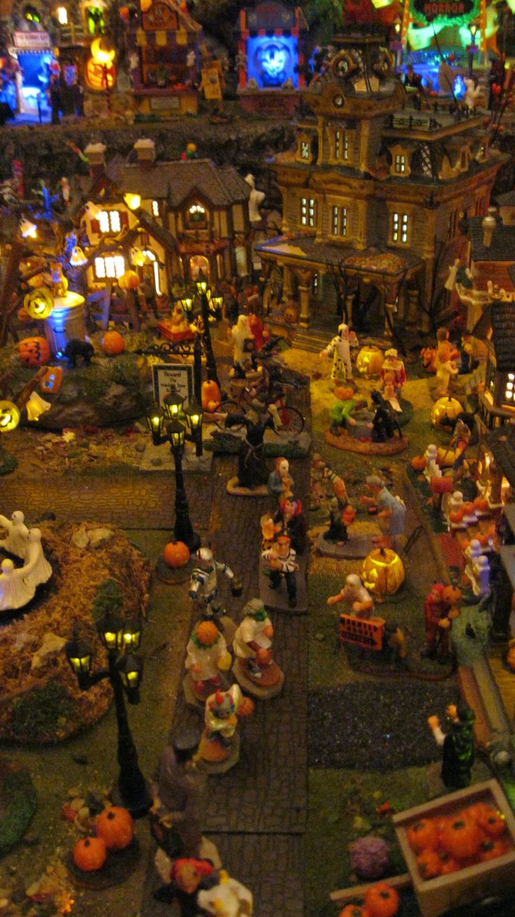 Lemax and Dept. 56 Halloween Village