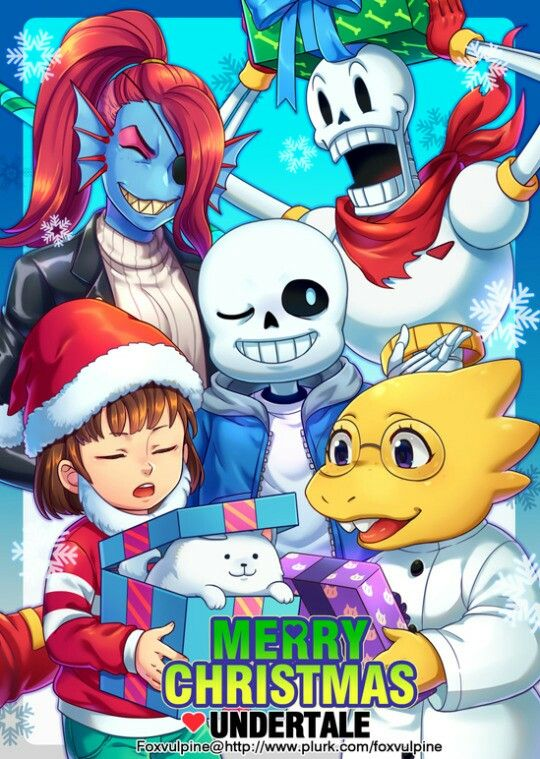 UT fanart - Merry Christmas from your friends in Undertale