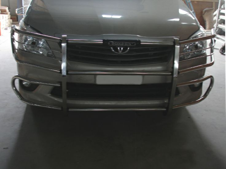 GoldSun Auto (P) Ltd., - Manufacturers of Quality Auto Accessories. At GoldSun, we manufacture various range of car accessories like FRONT BUMPER, REAR BUMPER, NUDGE GUARDS, SIDE FOOT STEPS, for TOYOTA INNOVA cars. Now make Your stylish car, Double Protected With GOLDSUN Car Accessories using SAFARI FRONT BUMPER!