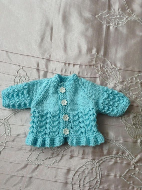 Hand knitted dolls clothes for 14 doll.  Berenguer La