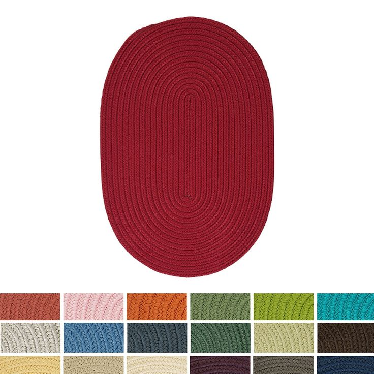 Anywhere' Oval Reversible Indoor/ Outdoor Oval Rug (4' X 6