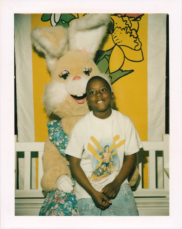 Female Easter Bunny and Jarius