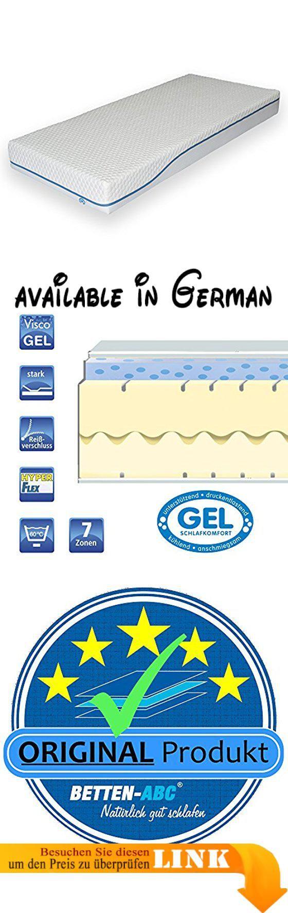 B018SHBYEC : Gelmatratze mit Viscokern OrthoMatra GEL 1.0 von Betten-ABC mit 2-teiligem Hyperflex-Kern 7-Zonen - Grösse 90x200. Qualität aus dem Schwarzwald Made in Germany - Orthopädische 7-Zonen Visco-Gel-Matratze. mit 2-teiligem Hyperflex-Kern in 7-Zonen-Schnitt. Der Bezug ist unversteppt um ein optimales Liegeempfinden zu gewährleisten. Drell: 65 % Polyester /34 % Viscose 1% Elasthan