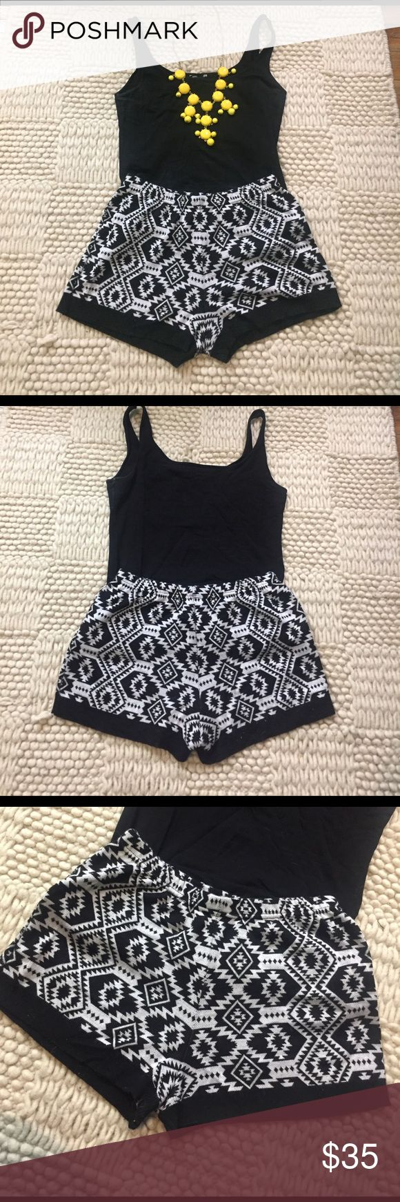 Sparkle & Fade Tribal shorts Black and white tribal knit shorts. Only worn once. Urban Outfitters Shorts