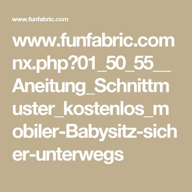 www.funfabric.com nx.php?01_50_55__Aneitung_Schnittmuster_kostenlos_mobiler-Babysitz-sicher-unterwegs