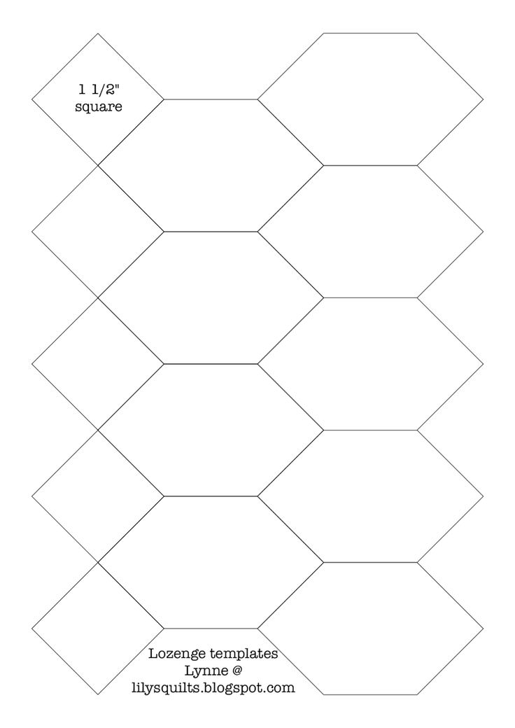 197 best english paper piecing images on pinterest quilt for Free english paper piecing hexagon templates