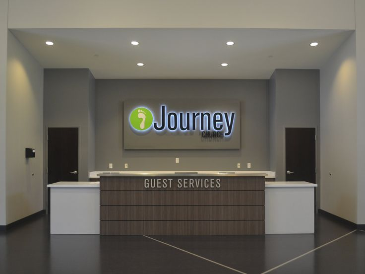 Journey Church Lobby - sign for information desk