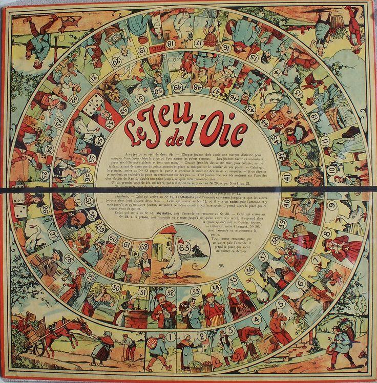 Jeu (Le) de l'Oie - The Game of the Goose - Il Gioco dell'Oca19-- Percorso di 63 caselle numerate Anonimo Francia XX secolo (?/4)