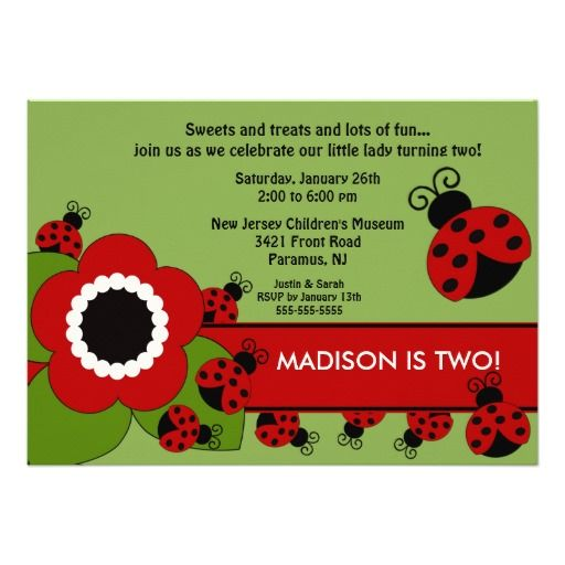 357 Best Lady Bug Birthday Party Invitations Images On