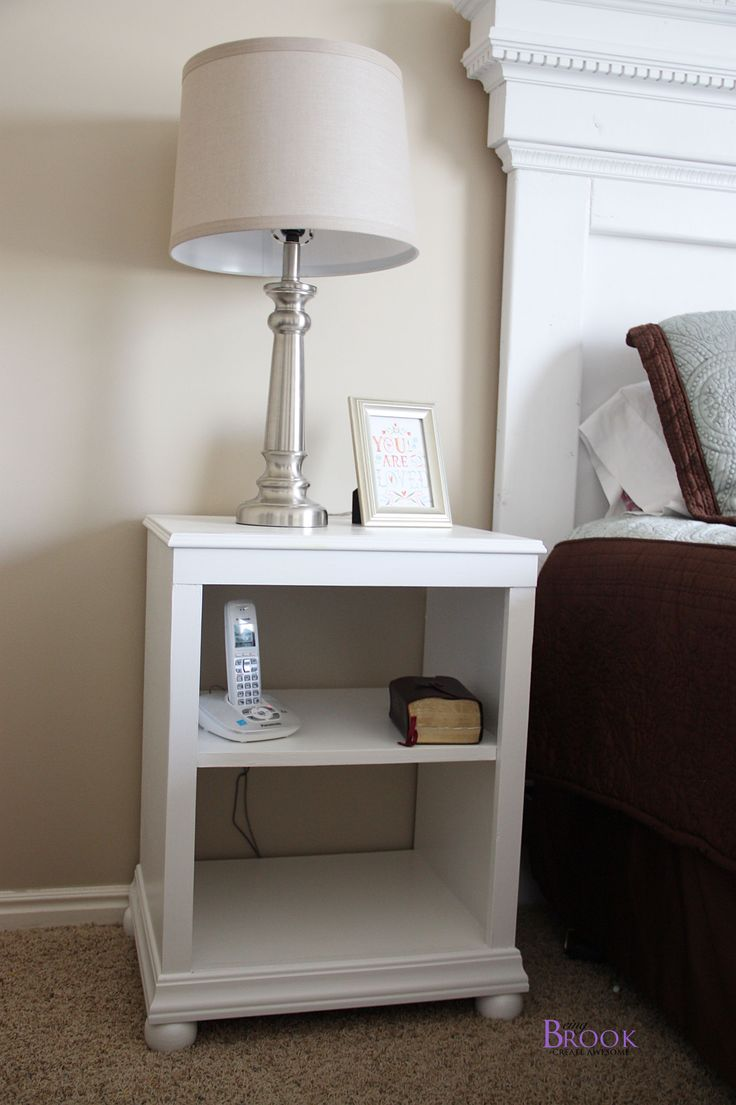 17 Best Ideas About White Nightstand On Pinterest White