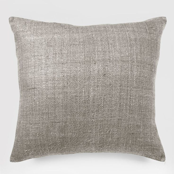 Solid Silk Hand Loomed Cushion Cover - Platinum