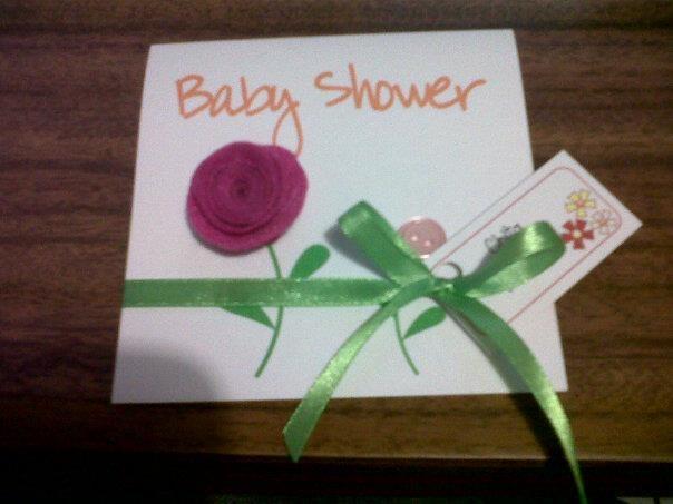 Blossom Baby Shower Cards  http://www.facebook.com/EventosMagicos
