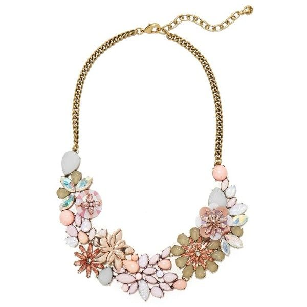 Women's Baublebar Ariana Bib Necklace ($62) ❤ liked on Polyvore featuring jewelry, necklaces, light pink, stone necklaces, multi color necklace, bib necklace, pastel necklace and multi colored stone necklace