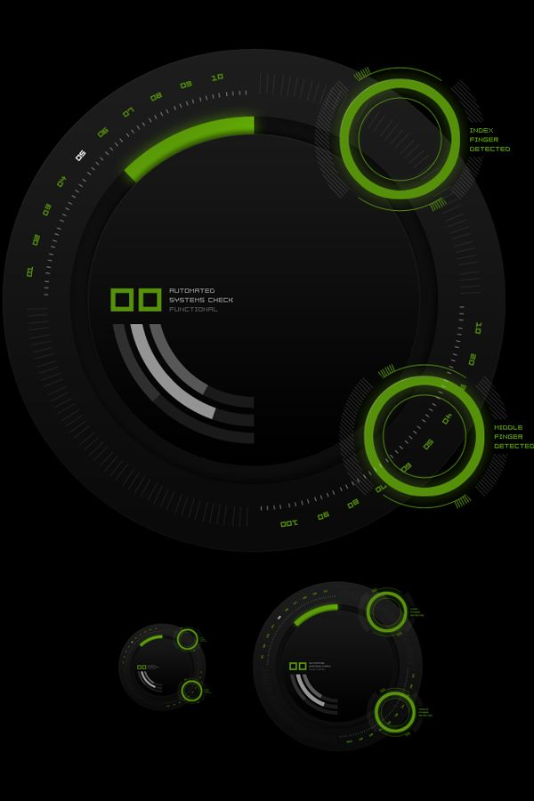 HUD Touch UI Elements on the Behance Network