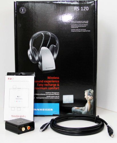 40% Off was $199.95, now is $119.95! Sennheiser RS120 Wireless RF Headphones with FiiO D03K (D3) Optical Audio Connection Kit  #SMIC