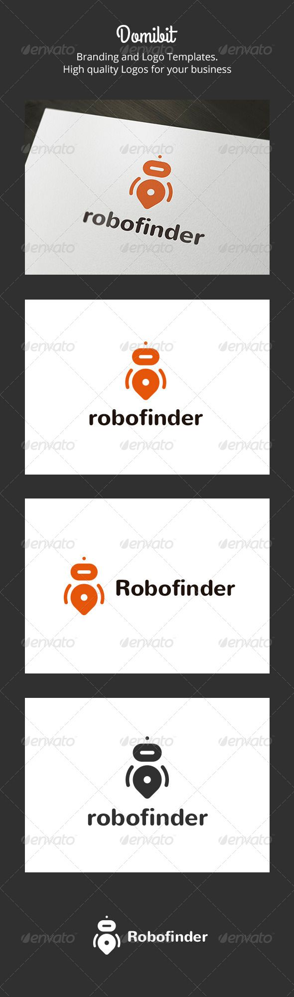 Robofinder Robot Finder  - Logo Design Template Vector #logotype Download it here: http://graphicriver.net/item/robofinder-robot-finder-logo/6160817?s_rank=520?ref=nexion