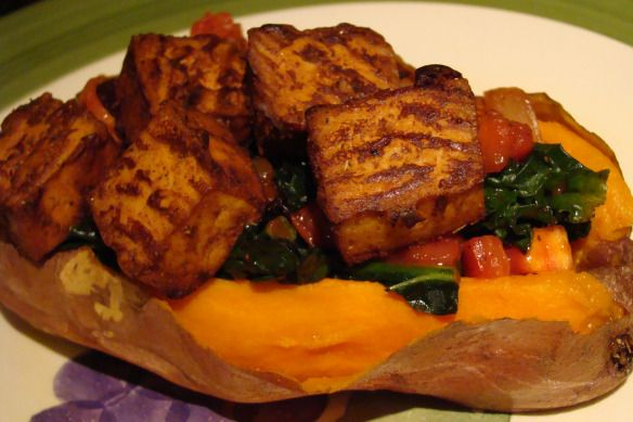 Baked BBQ tofu | Vegan Recipes | Pinterest