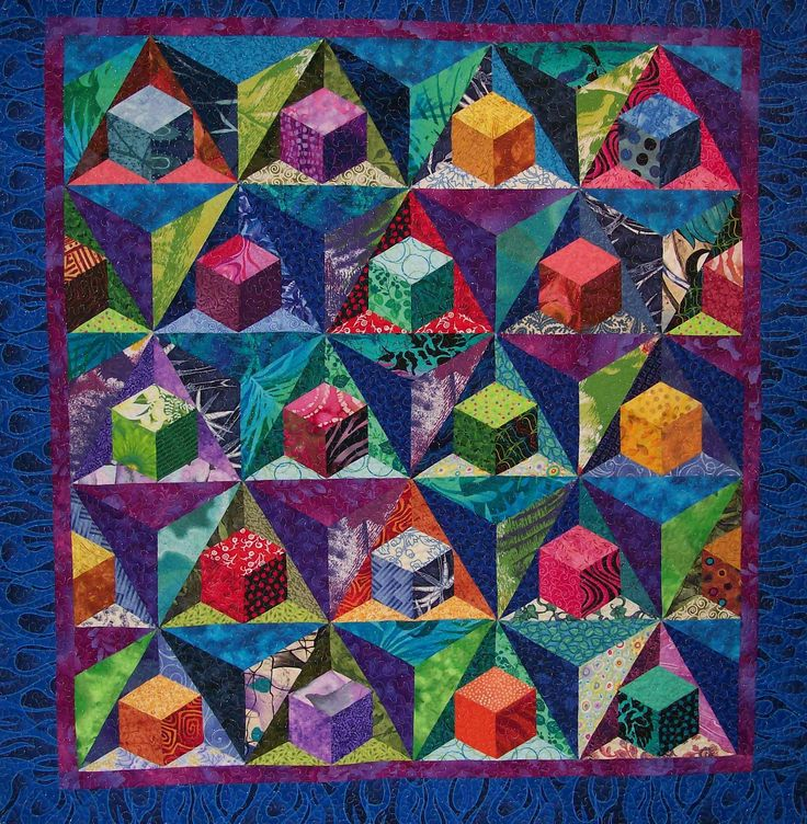 Quilting Patterns Tumbling Blocks : 35 best images about 3D and optical illusion quilts on Pinterest Tumbling blocks, Quilt and ...