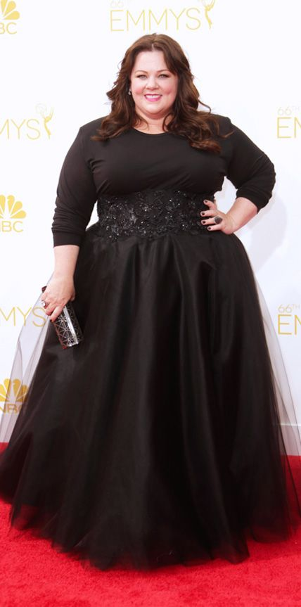 I love this so much! Emmy Awards 2014 Red Carpet Photos - Melissa McCarthy in custom Marchesa. #InStyle