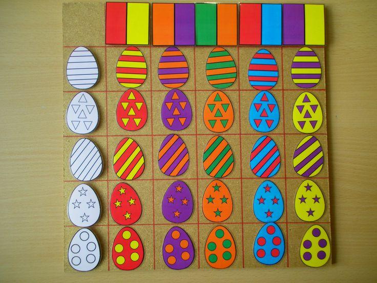 Matrix: 2 kleuren en versiering paaseieren