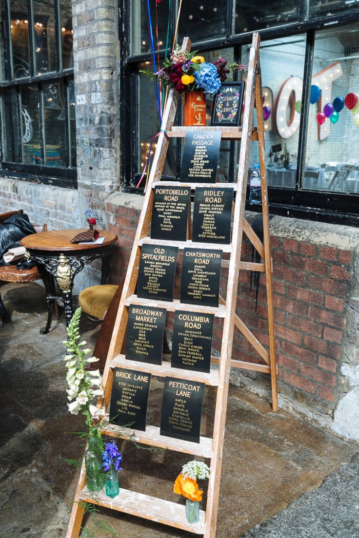 Step ladder table plan | Photography by http://nicktuckerphotography.com/