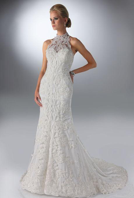 38 best images about dresses on pinterest oscar de la for Choker neck wedding dress