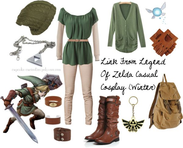 Yet another Link (from The Legend of Zelda) neat casual cosplay outfit for girl (winter)