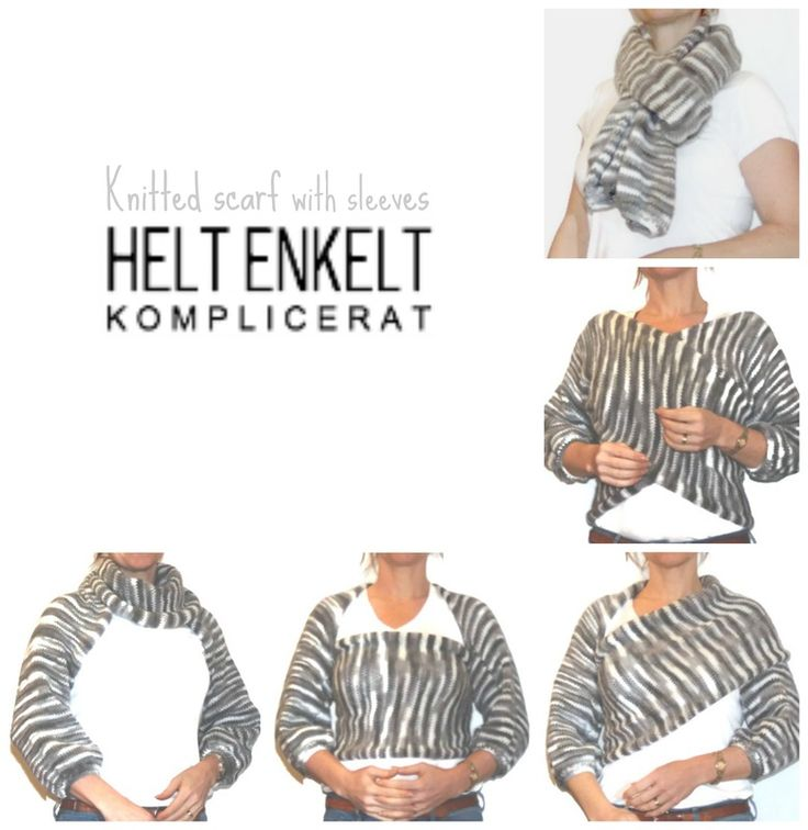 Knitted scarf with sleeves versatile DIY minimal clothing scandinavian Picture