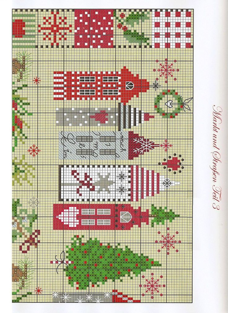 Christmas Houses-pattern 1
