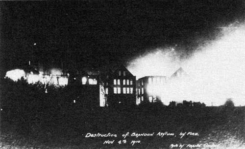 Brandon Asylum Fire Nov. 4 1910 -