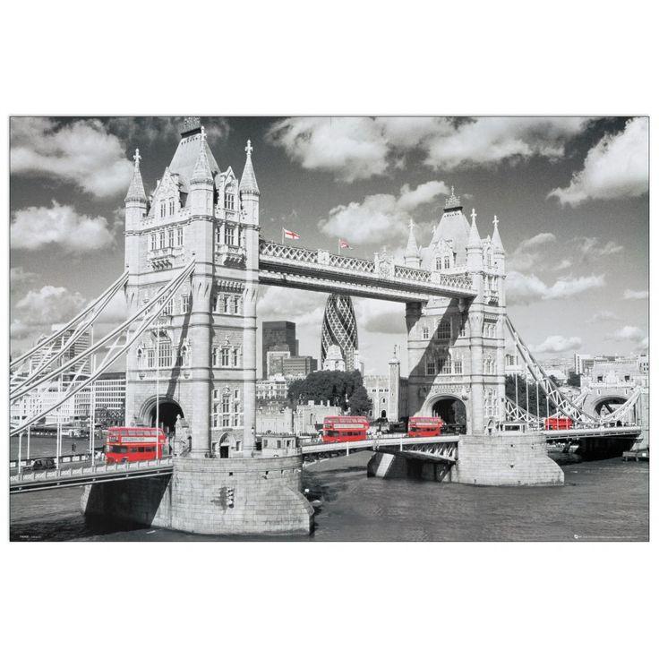 LONDON - London Bridge 90x60 cm #artprints #interior #design #art #prints #panorami #Landscapes  Scopri Descrizione e Prezzo http://www.artopweb.com/categorie/panorami-e-citta/EC21579