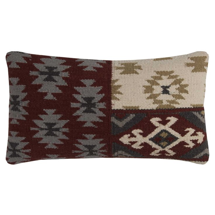 Rizzy Home Southwestern color Wool and 11-inch x 21-inch Throw Pillow