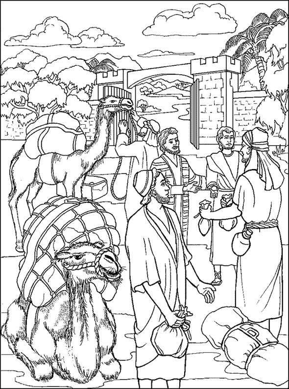 Parable of the Talents Coloring Page Children 39 s