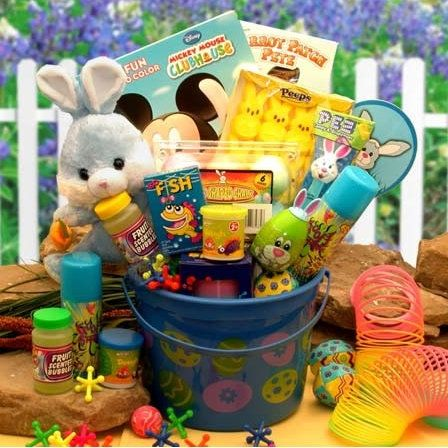 74 best easter gifts and spring gift ideas images on pinterest little blue bunny easter fun pail negle Image collections