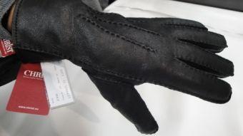 Christ Lammfell-Handschuhe John schwarz