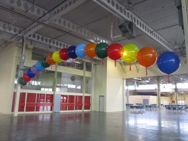 Large spaces need larger #balloons!  #3ftballoons #balloonarches #ballooncolumns  #corporateevents #companyparty #eventstoronto #ballooncorporateevents #themedevents