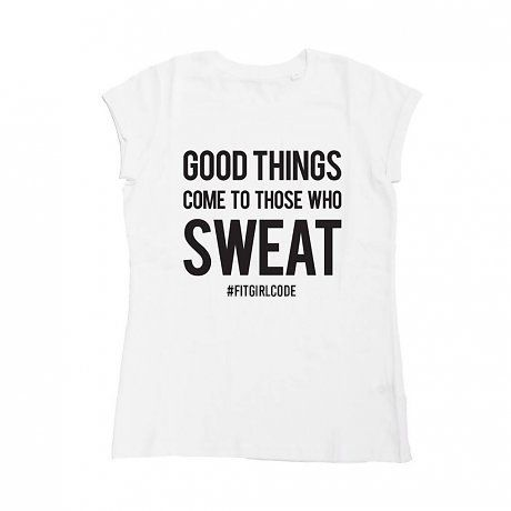 Sweating like a boss will eventually make you the most healthy and badass girl in town! Shop this t shirt now 30% off  #fitgirlcode #shopping #sale #fun #fitness #quotes #fashion #sportswear