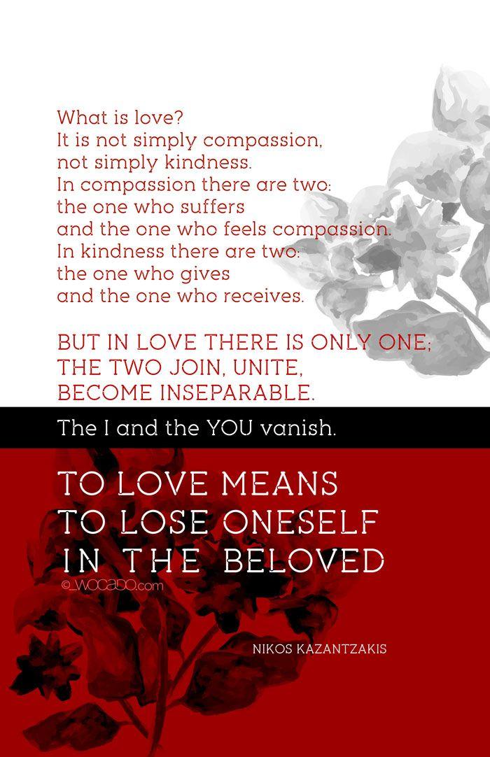 What is Love? Nikos Kazantzakis #Quote Poster by Wocado