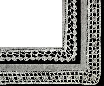 Edgings with Corners Pattern #329A-#329B