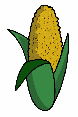 Don't be intimidated by this cute cartoon corn. It is quite easy to draw! :)