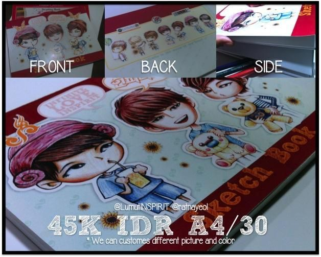 Sketch Book - Price: 45K IDR (A4/30 sheets)